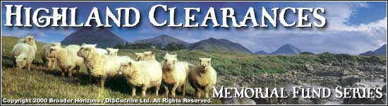 Highland Clearances Memorial Fund Banner